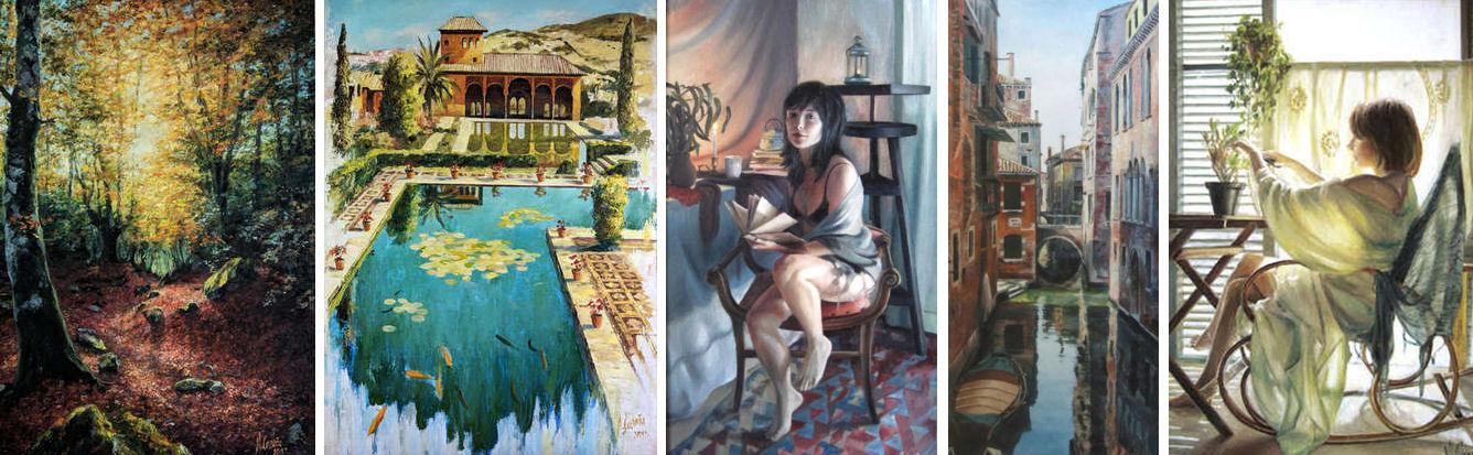 Obras al óleo de Miquel Cazaña